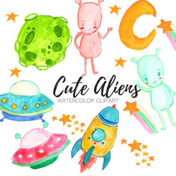 alien clip art space clip art outer space clip art cute etsy rh etsy com galaxy cliparts for kids galaxy clipart black and white