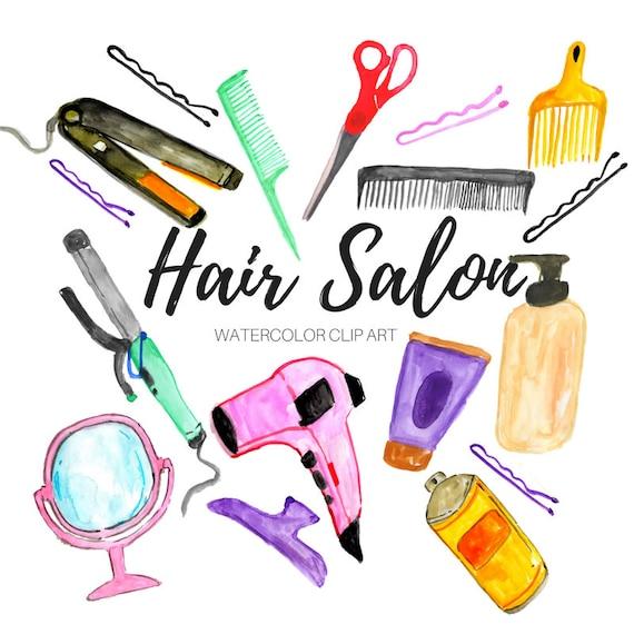 89a19fa96 Hair Salon Clip Art Watercolor clip art Beauty clip art | Etsy