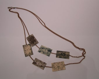 Long Necklace, lotus flower