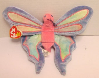 275066b81d6 Ty Beanie Baby Flitter the Butterfly Retired 1999 Plush Beanbag  Multicolored NWT