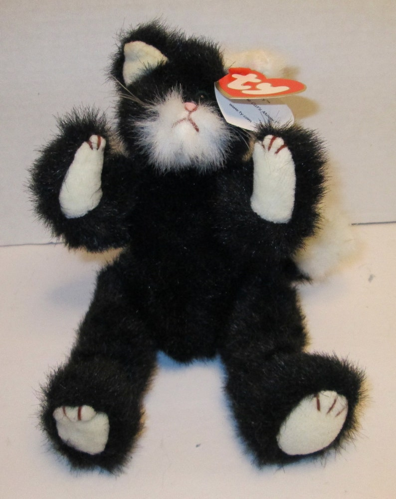3109b931aff Purrcy jointed tuxedo cat Ty Beannie Baby with tags Classic