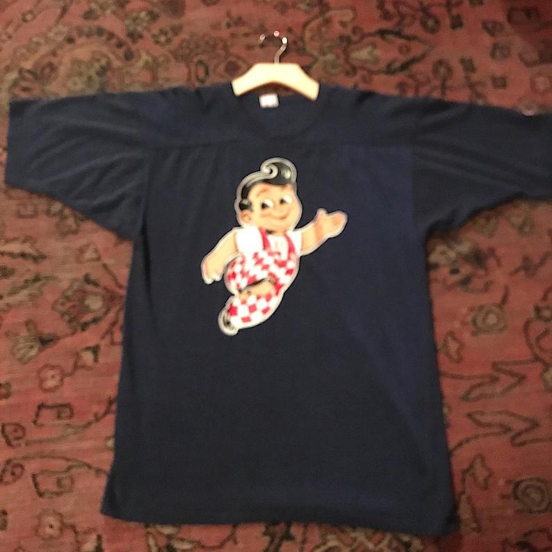 65134695 Rare Vintage 1980s Champion Bobs Big Boy Iron On T Shirt | Etsy