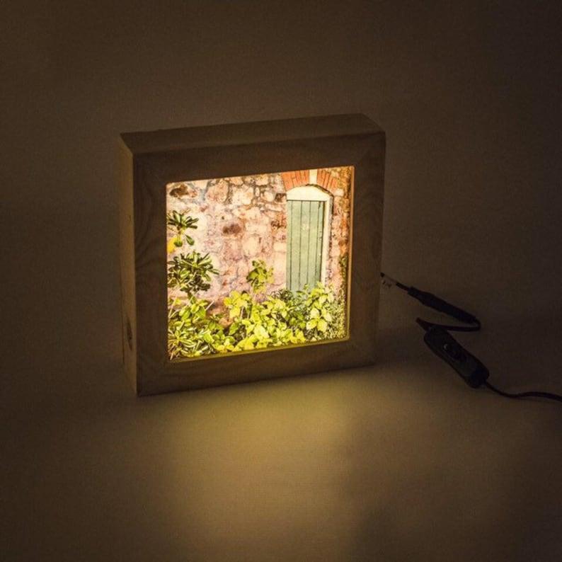 Wooden lightbox // Plug in night light // Accent lamp // Lush image 0