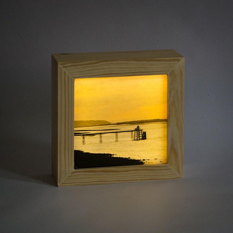 Clevedon Pier // Handmade Light box // Bedside night light // image 0