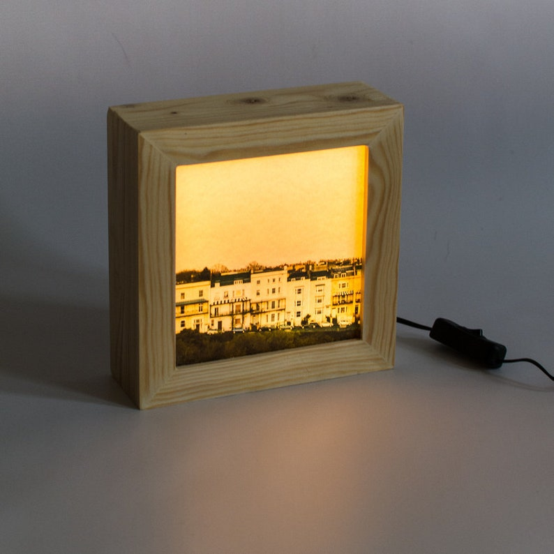 Light box // Clifton coloured houses lamp // Night light plug image 0