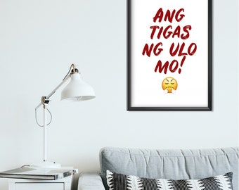 Filipino Printable Wall Art, Philippines Home Decor, House Warming Gift, Tagalog, Entrance Sign, Living Room Decor, Red text