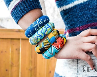 Mix & Match Bracelets, Bright Color Bangles, African Jewelry, Ankara Kente, Multicolor Accessories, Casual African fashion, 20mm/30mm thick