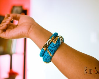 Matching African Bracelets, Africa Jewelry Gift, Traditional Bangles, Ankara Kente Accessories, bracelet for woman, fits big hands