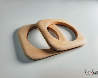 DIY Natural Wood Bangle | paint night special | rounded square shape retro cuff bracelets | birthday party