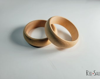 Thick Natural Wood Bangles DIY | paint night | birthday party | artsy retro bracelets | varnish