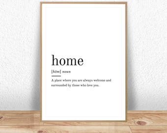 Home quote | Etsy
