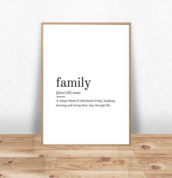 Family Definition Printable Wall Art Family Print Family | Etsy