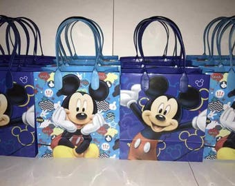 12Pcs Mickey Mouse Goodie Treat Birthday Party Favor Bags