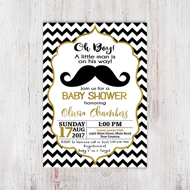 Little man mustache baby shower invitation little man baby etsy image 0 filmwisefo
