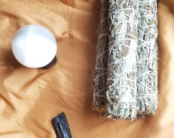 4.5-9in Black Sage/Mugwort Bundle Wand~Artemisia Vulgaris