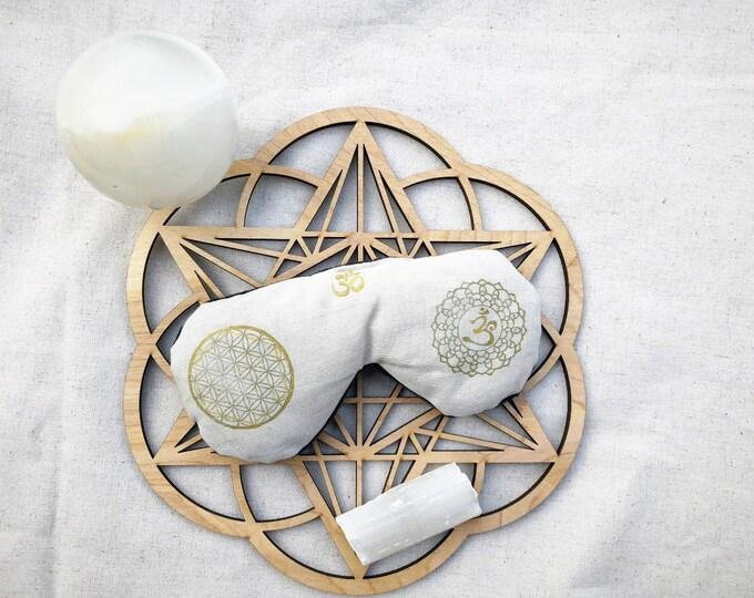 Sahasrara - Crown Chakra CHARMM  Crystal Healing Aromatherapy Reiki Meditation Mirror - Meditation Enhancement Blindfold Eco Friendly