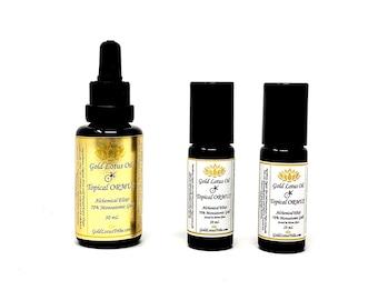 Ormus Gold Lotus Oil ~ Monoatomic Gold Quartz Crystal Roller Ball