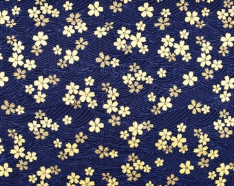 """5 MTR NAVY CHERRY PRINT 100/% COTTON FABRIC...45/"""" WIDE £22.50 SPECIAL OFFER"""