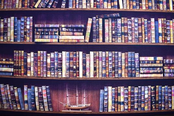 Book Fabric Bookshelf Cotton Library