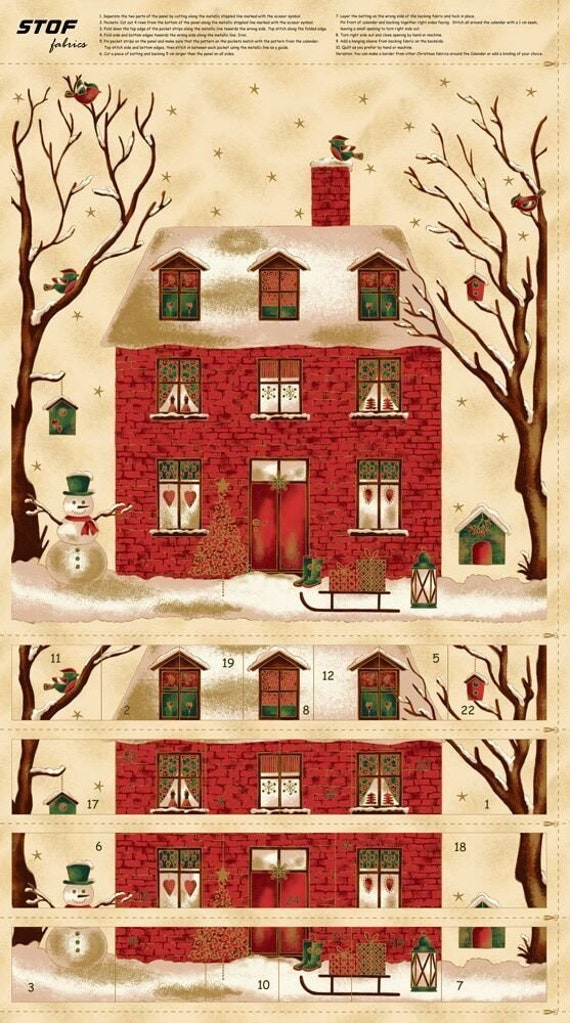 Advent Calendar Christmas Countdown Quilting Kit Reusable Etsy