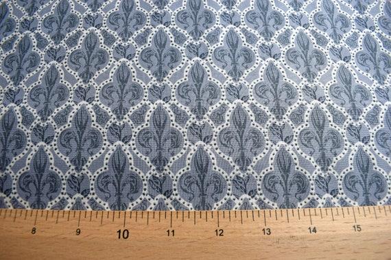 Creatieve hobby's Medieval Style Fleur De Lys 100% Cotton Patchwork Fabric Inprint