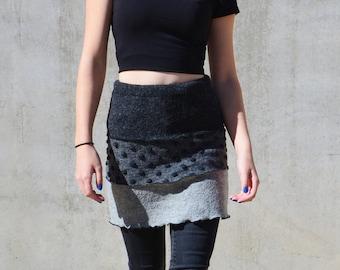 Skirt made of woolwalk Woolskirt