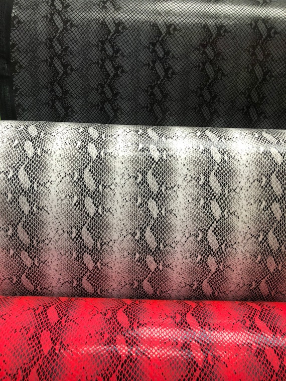 Ships worldwide from Los Angeles California USA. Anaconda snake design nylon spandex with clear foil 4way stretch 5860 Sold by the YD