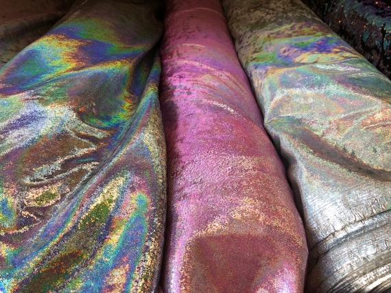 Nouveau lourd velours irisé papier brouillard mystique les 4way stretch 58/60