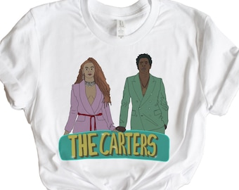 fe9fd4d9a The Carters graphic tee, beyoncé, Jay-Z, the carters, on the run, tshirt,  crewneck, unisex fit, beyonce illustration, fan art, graphic tees