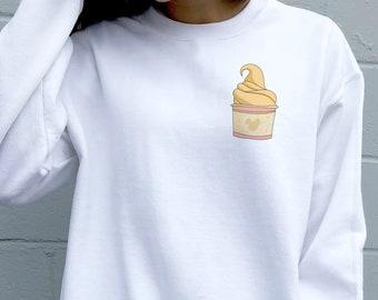dole whip sweatshirt, disneyland sweater, graphic sweater, dole whip,  disneyland snacks, disney vacation sweaters, disney foods, crewneck
