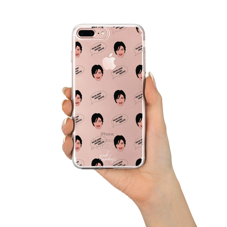 timeless design 7e1f6 a7fb9 kris jenner iphone case, clear phone case, kardashians, kardashians iphone  case, kris jenner pattern, you're doing amazing sweetie, funny