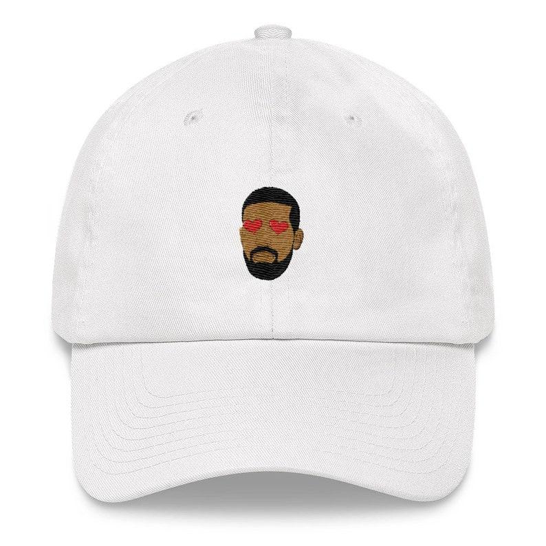 3ba2bee50b9 Drake embroidery dad hat heart eyes drake dad hat drake