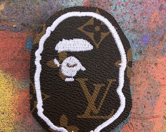 ef2bd926edfe Patch bape x Louis Vuitton custom 3 inch embroidery patch hand made