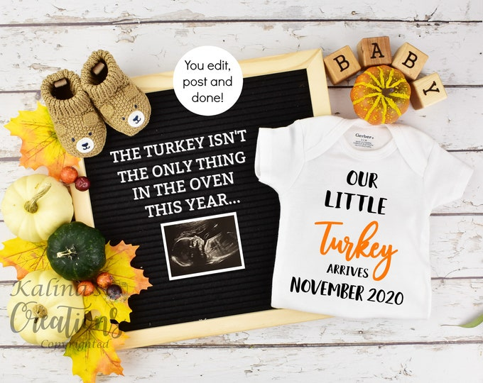 Thanksgiving Baby Announcement Template