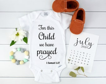 Christian Baby Announcement / Bible Verse Onesie / Scripture Onesie