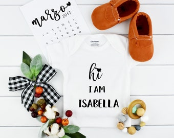 Coming Home Onesie for Baby Announcement
