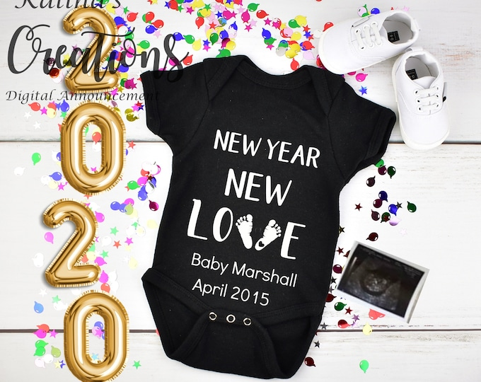 New year 2020 Baby Announcement for Social Media Announce