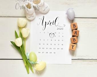 April 2020 Easter Pregnancy Announcement for social media