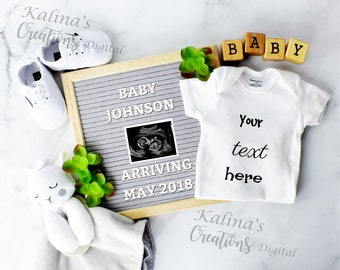 Unique Digital Pregnancy Announcement /Personalized Social Media Baby Announcement