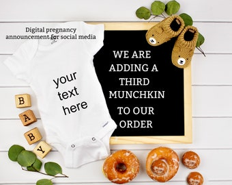 Digital Pregnancy Announcement for Social Media