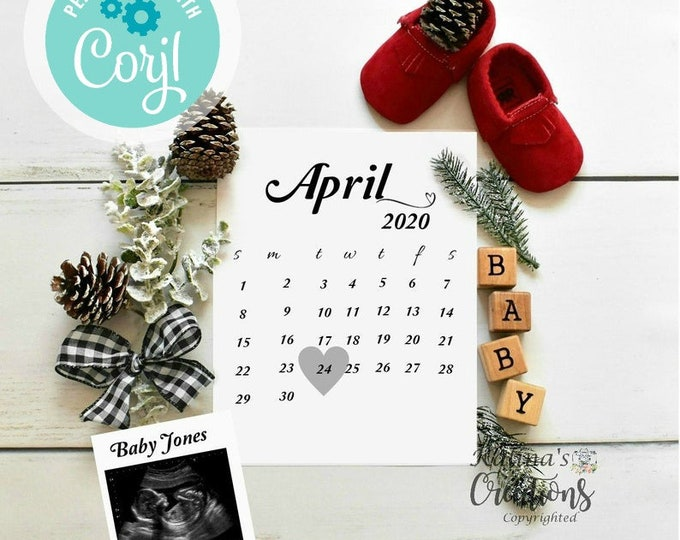 Christmas Any Month Pregnancy Announcement - Social Media Announce