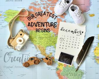 Travel - Adventure Pregnancy Announcement for social media