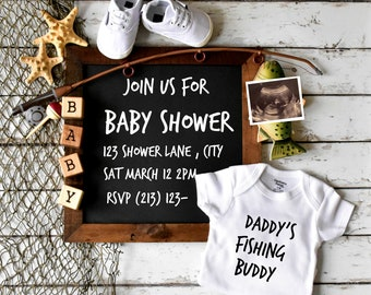 Fishing Baby Shower Invite - social media and printable