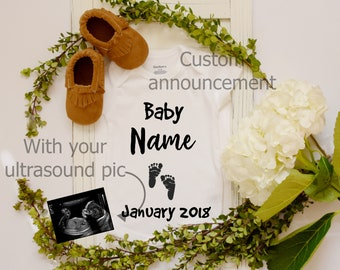 Digital Pregnancy Announcement / Pregnancy Announcement / Photo