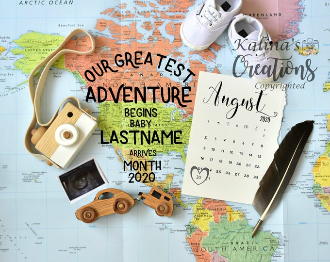 Pregnancy Announcement Travel - Adventure  for Social Media Announce