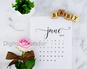 Printable Calendar for Pregnancy Announcement