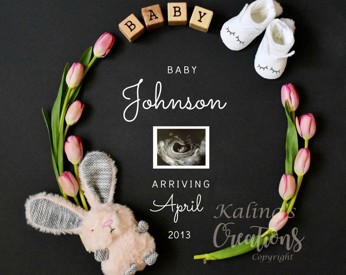 Easter Pregnancy Announcement for Social Media Announce