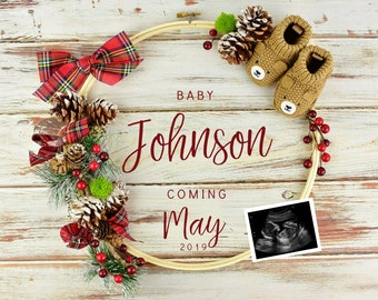 Christmas Pregnancy Announcement for Social Media
