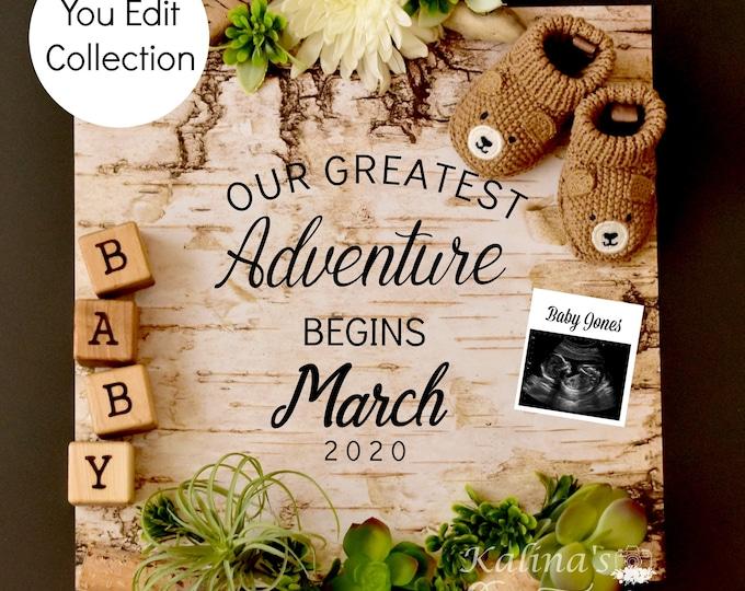 Greatest Adventure Pregnancy Announcement for Social Media Announce