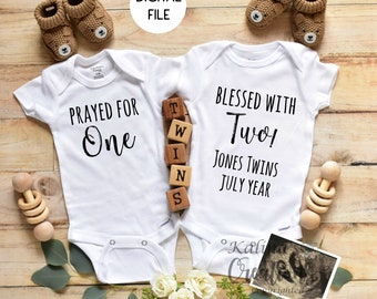 Twins Pregnancy Announcement for Social Media Announce